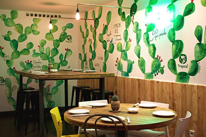 Art-Mural-Cactur-Gofio-restaurant