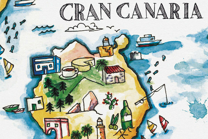 illustration-map-gran-canaria-Canary-Islands