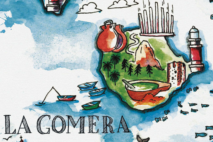 illustration-map-la-gomera-Canary-Islands