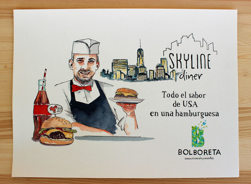 illustration-portrait-diner-skyline