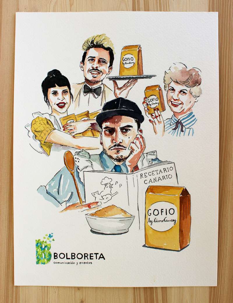 illustration-portrait-gofio-canary-islands-restaurant