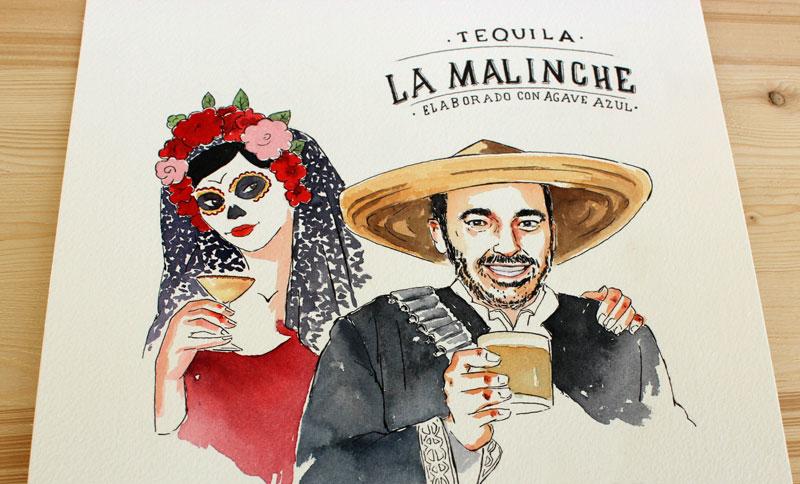 illustration-portrait-la-malinche-tequila-drink