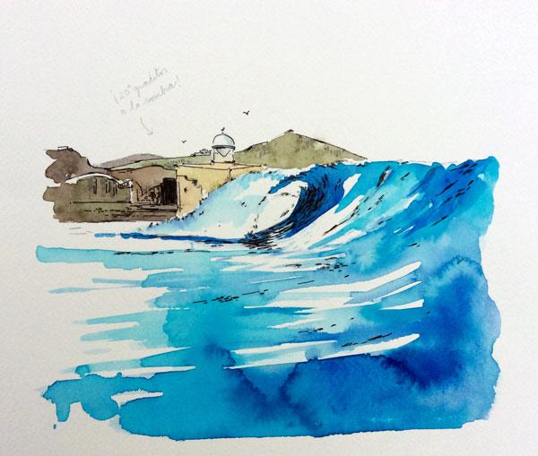 illustration-watercolour-urbansketchers-auditorio-alfredo-kraus